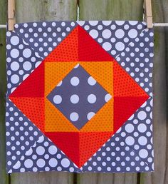 "Wow - the colors chosen here give this block such a three-dimensional look! Fantastic ""Economy Block"" by Kay Stephenson."