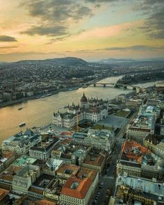 Cool Places To Visit, Places To Travel, Travel Pictures, Travel Photos, Places Around The World, Around The Worlds, Capital Of Hungary, Aerial View, Vacation Spots