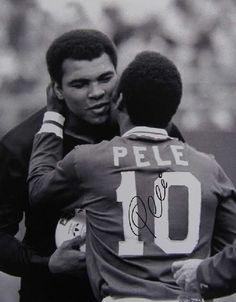 Pele & Ali SO SO BEAUTIFUL--- I LOVE AND ADMIRE BOTH OF THESE GUYS---MY GRANDSON PLAYS SOCCER AND I CALL HIM PELE'....