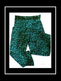 ANDRE VASSELLE sequin batik pant