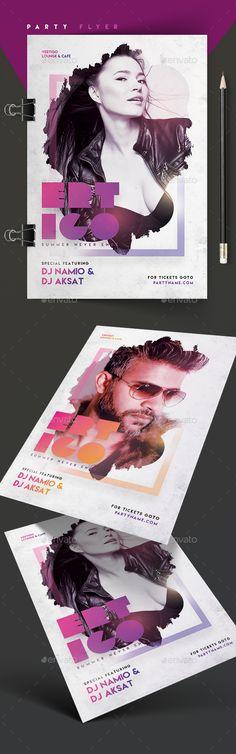 Ertigo Party Flyer Template PSD