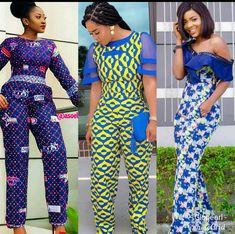 Classy Ankara Styles Of Jump-suits For Ladies 2019 - Pretty 4 African Jumpsuit, Ankara Jumpsuit, African Dress, Shweshwe Dresses, African Fashion Ankara, Ankara Styles, Suit Fashion, Jumpsuits For Women, Nice Dresses