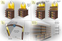 Affligem Retail off-trade POS – The Reaction Chamber Supermarket Design, Presentation Styles, Thought Process, Store Displays, Crates, Magazine Rack, Insight, Alcohol, Sketches