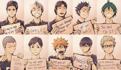Big fan of Haikyuu and having a rough day? Here, have some motivational Karasuno. Hope it makes your day better; it did to mine. Kagehina, Kuroo X Kenma, Nishinoya, Haikyuu Karasuno, Manga Haikyuu, Haikyuu Meme, Haikyuu Fanart, Haikyuu Ships, Hinata
