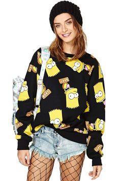 Joyrich Bart Face Crew Sweatshirt | Shop Team Babe at Nasty Gal