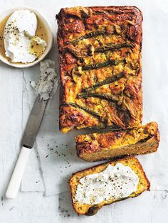 Health-Boosting Herb Recipes: Zucchini Dill and Sweet Potato Loaf from Donna Hay Herb Recipes, Cooking Recipes, Dill Recipes, Peeps Recipes, Loaf Recipes, Dessert Recipes, Donna Hay Recipes, Sweet Potato Bread, Good Food