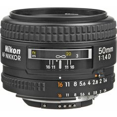 A nice, fun, inexpensive, wonderfully yummy prime lens that produces awesome images. Can not do without it. Nikkor 50mm f/1.4D Autofocus.