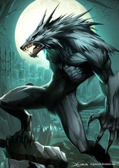 Werewolf 2 by el grimlock - 40 Mind Blowing Fantasy Creatures  <3 <3