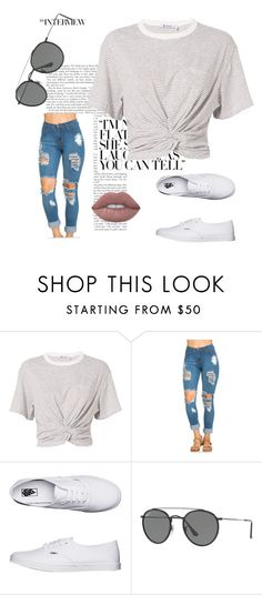 """""""Untitled #370"""" by mademoiselle-mm ❤ liked on Polyvore featuring T By Alexander Wang, Vans and Ray-Ban"""
