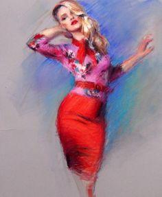 Figures   Christine Clark Art   Christine Clark Art Clark Art, Vibrant Colors, Colours, Watercolor Tattoo, Portrait, Vivid Colors, Headshot Photography, Portrait Paintings, Drawings