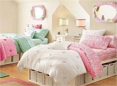 #twin #bedroom #girl #cute