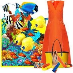 Aquarium Fashion by flowerchild805 on Polyvore featuring moda, Antonio Berardi, Nicholas Kirkwood, MARC BY MARC JACOBS, Fendi, Dsquared2 and Kenneth Jay Lane
