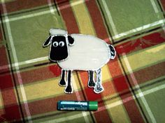 Shawn the Sheep stained glass