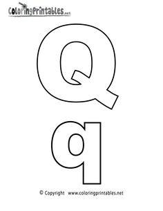 Alphabet Letter Q Coloring Page
