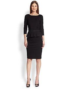 Weekend MaxMara Mirto Peplum Jersey Dress