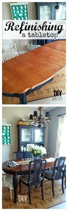 The best DIY projects & DIY ideas and tutorials: sewing, paper craft, DIY. DIY Furniture Plans & Tutorials : Read all about my trials and ultimate success as I took on refinishing and staining a dining table at DIY beautify -Read Furniture Projects, Table Furniture, Furniture Making, Home Projects, Furniture Refinishing, Painting Furniture, Furniture Plans, Refurbished Furniture, Repurposed Furniture