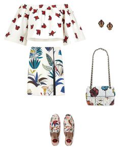 """""""Swinging It"""" by jana-raykow on Polyvore featuring Gucci, Tory Burch, House of Holland, Moschino and Chanel"""