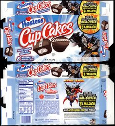 Hostess Snack boxes | hostess cup cakes dc comics batman halloween 1 million snack cakes box ...