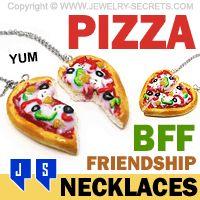 ►► PIZZA BFF FRIENDSHIP NECKLACES ►► Jewelry Secrets