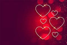 Happy valentines day shiny hearts backgr... | Free Vector #Freepik #freevector #background #heart #love #gift