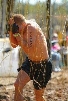 No pain no gain. Tough Mudder Electroshock.