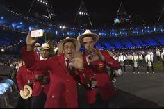 Koke, en pleno desfile en la ceremonia de inauguración de los Juegos Olímpicos de Londres 2012 (27/07/2012).