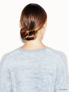 How to Master the Cool-Girl Version of a Low Bun via @ByrdieBeauty