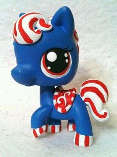 Americana Horse * OOAK Hand Painted Custom Littlest Pet Shop