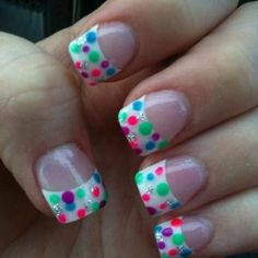 Polka Dot Nails..lol a little too much but cool