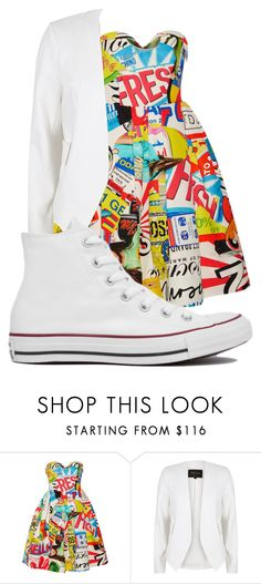 """Untitled #198"" by martina-cmv on Polyvore featuring Moschino, River Island and Converse"
