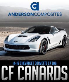 Anderson Composites 2014-16 Corvette C7 Z06 Front Bumper Canards #AC-FL14CHC7-Z6XC: ANDERSON COMPOSITES CARBON FIBER… #Blog #New_Products