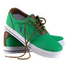 950ca4584c4b Polo Ralph Lauren Mens Classic Canvas Sneaker Green Ralph Lauren Shoes