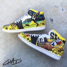 19efab6e89 Custom hand painted Sports team Jordans NFL NBA by ArtOfTheSole Custom  Sneakers