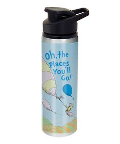 Fun stocking stuffers! Take a look at this Dr. Seuss 'Oh the Places' Water Bottle by Dr. Seuss Boutique on #zulily today!