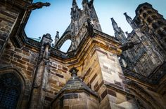 Going to Prague and not going to the Prague Castle and the St. Vitus Cathedral is hard. Prague Czech Republic, Prague Castle, Adventure Travel, Cathedral, Louvre, Europe, Adventure Tours, Cathedrals, Louvre Doors