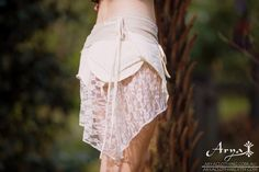 Pixie Pocket Skirt Cream Pixie Pocket Skirt Fairy by AryaClothing