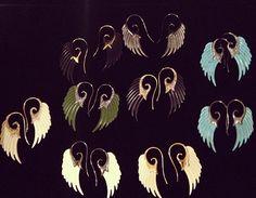 Noor Fares wing earrings. Very soon @ WHITE bIRD Jewellery...