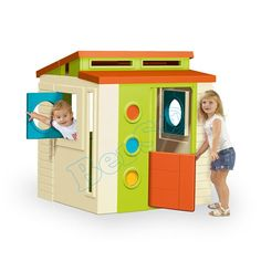 """""""Modern House Üretim Yeri : İspanya'da üretilmektedir. Ebat : Kurulum : 113 cm (L) x 103 cm (W) x 128 cm (H) Ağırlık : 22 kg Uygunluk : 3 yaş sonrası, Anaokulları, Restaurant, Çocuk Cafe, Poliklinikler, Parti Evleri, Hastane, Oteller, AVM'ler için uygundur. Uygulama tipi : 7 gün içesinde teslim Özellikleri : 2-10 yaş arası Kolay Kurulum Canlı renkler, Gün Işığı ve Dış Isı Değişimlerine Dayanıklı Eğlenceli ve eğiticidir.  Üretim / İthalatçı Firma   Genel Dağıtım :  Feber / Bersa   Türkiye"""""""