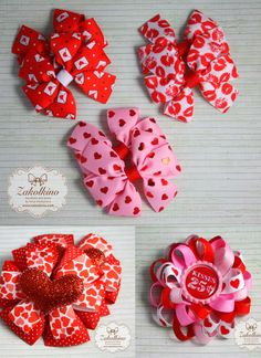 valentines day hair bow pinwheel hair bow girls bow red pink hair bow hearts ribbon bow holiday hair bow 25 cent kisses bow valentine hair bow flower loopy hair bow   https://www.etsy.com/listing/241152410/valentine-hair-bow-red-hearts-bow-big?ref=listing-shop-header-1