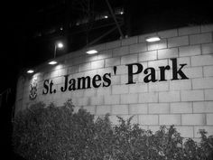 St James Park home of Newcastle United! Newcastle United Football, North Shields, St James' Park, North East England, Soccer World, Football Stadiums, Room Posters, Park Homes, Saint James