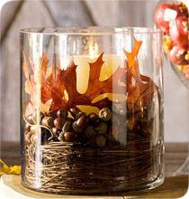 Pottery Barn Faux Mixed Leaf Vase Filler (Fall centerpiece ideas for the coffee table) Acorn Crafts, Fall Crafts, Holiday Crafts, Holiday Ideas, Diy Crafts, Thanksgiving Table Settings, Thanksgiving Decorations, Diy Thanksgiving, Autumn Table
