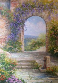 """""""arco di vecchio paese"""" di Antonietta Varallo"""