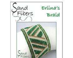 Peyote Pattern   Crossed Diamonds Mosaic Peyote Cuff par SandFibers