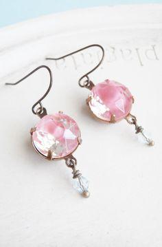 Vintage Glass Jewel Earrings