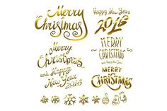 Merry Christmas. Happy New 2016 Year. Christmas Patterns. $10.00