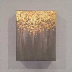 Gold leaf painting, abstract gold leaf painting, 8x10 wall art, heavy duty canvas painting by PaintAndPattern on Etsy https://www.etsy.com/listing/245879989/gold-leaf-painting-abstract-gold-leaf