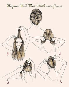 Joan Holloway's Chignon   27 Gorgeously Dreamy Vintage-Inspired Hair Tutorials
