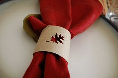 Toilet Paper Roll Napkin Ring. I'd like to write names on them too so they double as place cards!