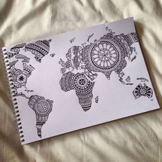 art, black&white, creativity, draw, drawing, fashion, inspiration, magic, mandala, mandalas, maps, talent, world, mapamundi, b&w, mandalas map