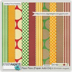 Quality DigiScrap Freebies: Pizza Pizza paper pack freebie from Kristin Aagard